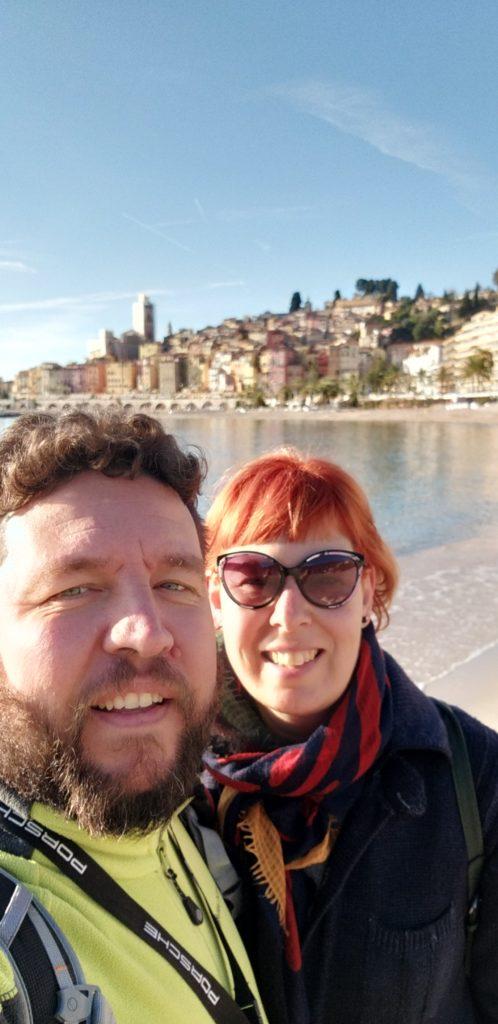 Mentone - Selfie al mare