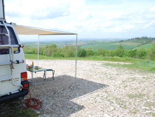 Tony e il panorama stupendo dell'Italia Centrale