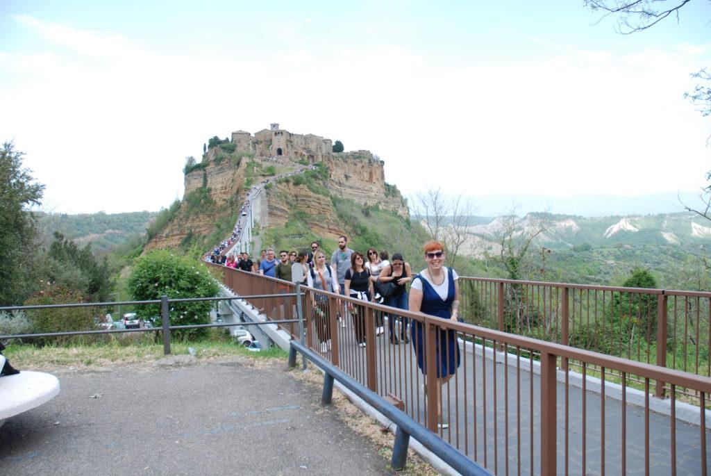 Civita di Bagnoregio, il ponte per raggiungere il borgo